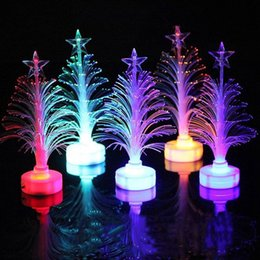 color changing fiber optic lights Promo Codes - Led Color Change Three-dimensional Xmas Party Nightlight Children's Gift Light Led Color Change Fiber Optic Lamp Night Light