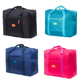 hand bags new types Coupons - New Colors Portable Travel Bag Women Men Large Capacity Waterproof Nylon Folding Bag Carry-on Package Hand Luggage Storage Bags