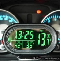 Recém Car Voltage Monitor Carro Relógio Termômetro Backlight Digital Modo Snooze Vibrar Carro Alerta Nap Zapper Alarme para Segurança (Varejo) de Fornecedores de peças de relógio de parede de quartzo