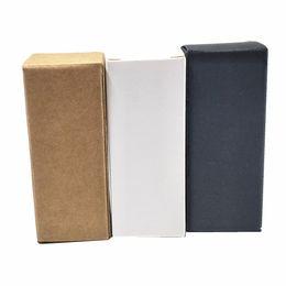 50 Adet Beyaz Siyah Kahverengi Kraft Kağıt Uçucu Yağ Şişesi Ambalaj Kutusu parti DIY El Sanatları Hediye Karton Paketi Kutusu Papercard Çikolata Ambalaj Kutusu nereden beyaz ambalaj şişeleri tedarikçiler