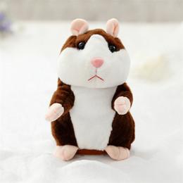 hamster brinquedo falando para crianças Desconto 16 cm Lindo Falando Hamster Falar Conversa Registro de Som Repetido Recheado de Pelúcia Animal Kawaii Hamster Brinquedos Infantis Brinquedos SS151