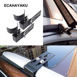 Кронштейн крыши онлайн-ECAHAYAKU 2x Автомобильный багажный кронштейн Прожекторный прожектор Стенд offroad Roof Bag Кронштейн для внедорожника внедорожника