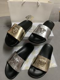 Homens Mulheres Sandálias Sapatos de Grife Deslizamento Moda Verão Largo Plano Sandálias Chinelo Chinelo Flip tamanho 35-45 de