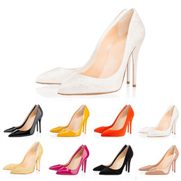 billige keil hochzeit schuhe Rabatt Christian Louboutin shoes 2019 neue ACE Luxus Designer Frauen Schuhe rote untere High Heels 8 cm 10 cm 12 cm Nude schwarz rot Leder Spitzen Zehenpumpen Kleid Schuhe