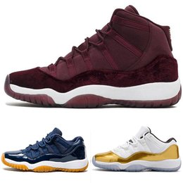 Canada Designer Platinum Concord 11 Tint chaussures de basket-ball mens sport 11s baskets de sport Retro Bred Gym Red Chicago Midnight Navy chaussures ER 40-4 Offre