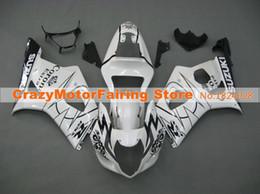 Motos corona gsxr online-Nuevo molde de inyección ABS motocicleta bicicleta carenados Kits aptos para Suzuki GSXR1000 K3 2003 2004 GSXR-1000 03 04 conjunto de carrocería personalizada corona blanca