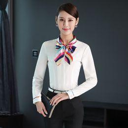Occupation Shirt Femme Manches Longues Automne Chargé Han Van Ol Self-cultivation Robe correcte Code Code Interview Chemise Blanche ? partir de fabricateur