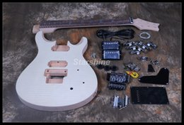 Guitarras elétricas kit diy on-line-Starshine DIY guitarra elétrica DK-RS90 guitarra Kit Flamed Maple Top S inacabado guitarra Floyd Rose ponte