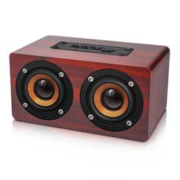 2019 bluetooth lautsprechertelefonuhr 10W drahtlose mini Soundbar Retro Holz Bluetooth Lautsprecher HIFI Wireless Dual Lautsprecher 3D-Surround-Holz-Lautsprecher
