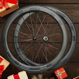 vélo noir mat Promotion Livraison gratuite 700C 25mm largeur HED nouvelle peinture noire 60mm roues de carbone plein carbone 700C vélo de route roues de vélo