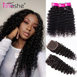 Tinashe Hair Bundles de vague profonde avec fermeture Bundles de tissage de cheveux brésiliens avec fermeture Remy 3 faisceaux de cheveux avec fermeture T190724 ? partir de fabricateur