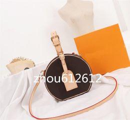 alças de saco redondo Desconto M43514 Petite Chapeau Boite Shoulder Bags Totes Bolsas Top Alças Corpo Cruz Messenger Bags noite saco rodada meio com caixa