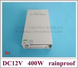 Canada résistant aux intempéries résistant à la pluie extérieure LED alimentation à découpage LED interrupteur transformateur de puissance 400W entrée AC110V / AC220V sortie DC12V Offre