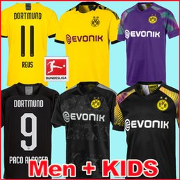 Crianças borussia on-line-19 20 BVB borussia dortmund camisas de futebol REUS SANCHO camisa de futebol HZARD WITSEL GOTZE BRANDT Camiseta 2019 2020 SCHULZ maillot de foot