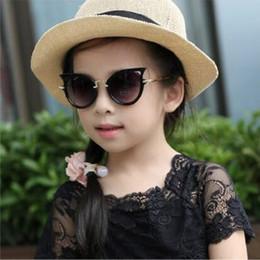 lindas gafas de sol para niñas Rebajas 2019 Niños marca cat eye sunglasses chicas Gafas de sol de lujo UV400 Niños niños vintage Lens Baby Cute Eyewear Shades Goggles