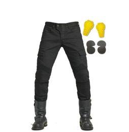 pantalones de moto verde Rebajas Venta al por mayor para Komine Motocross Denim jeans Motorcycle Dirt Bike jeans racing pants Army Green and black