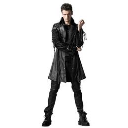 2019 uomini blazer collari di pelliccia Giacca con cerniera Punk Studded Punk Rave da uomo in similpelle nera Y-349