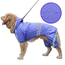 Argentina Mascota perro grande impermeable a prueba de agua al aire libre perro ropa grande capa de lluvia de la chaqueta de ropa de seguridad ropa impermeable para Golden Retriever Labrador Husky Suministro