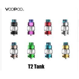 Tanques t2 online-100% original Voopoo Uforce T2 tanque 5 ml de capacidad con atomizador de cabeza de bobina U2 N2 para Drag 2 Box Mod Kit VS T1 genuino