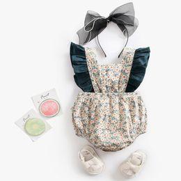 2019 diseños de moda mono 2019 Bebé recién nacido ropa de verano flor mameluco mono moda bebé de algodón puro diseño de alta calidad Vincular la ropa rebajas diseños de moda mono