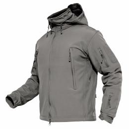Ceketler Erkekler Kış Softshell Polar Taktik Ceketler ABD Ordusu Stil Kapşonlu Palto Su Geçirmez Rüzgarlık Parka nereden