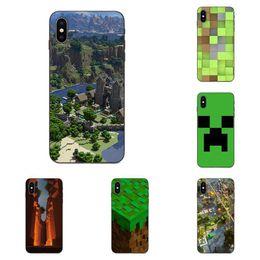 2019 personalizar capas de telefone Aplicável dos desenhos animados de Apple criativa Phone Case Creeper Minecraft pintado preto com foto personalizados Smartphone Caso Coolie medo