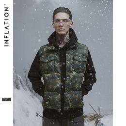 Американская броня онлайн-Зима 2018 Новый европейский и американский прилив камуфляж Multi-карман пилот броня вниз жилет пальто