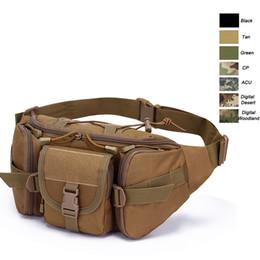 Oudoor Sports Bag Tactical Pack Assault Combat Pack Camouflage Waistpack Tactical Camo Molle Waist Bag NO11-407 desde fabricantes
