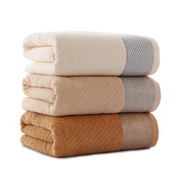 70 x 140 cm 3 colores 100% algodón Sólido Toalla de baño Toalla de playa  Para adultos Secado rápido Suave y gruesa Toallas para la cara 947be8a15a2d