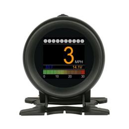 Автомобильный бортовой цифровой датчик OBD2 Порт Вождение Дисплей Спидометр Датчик температуры от