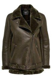 Solo Giacca in pelle di Diana Faux Fur donne di colore molto elegante 15159457 da