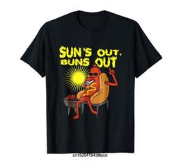 Hundet-shirt orange online-Sonnen heraus brötchen heraus T-Shirt Lustiges Würstchen-T-Stück Liebhaber-Geschenk