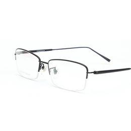 6012f115a Largura-140 Titanium Integral Templo Frames Eyewear Armação homens de  negócios ultra-leves miopia reding óculos armações de óculos