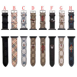 Pulseras de marca china online-Marca de relojes de diseñador banda de 38 mm 42 mm 40 mm 34 mm famoso inteligente correas de cuero de lujo correas de reloj pulsera de la banda de muñeca inteligente