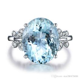 farfalla topaz Sconti Moda europea e americana naturale blu marino topazio farfalla anello placcato in oro bianco intarsiato zircone anello femminile mano gioielli