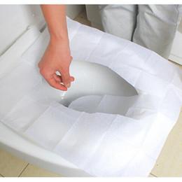 10 pièces / set Voyage couverture de siège de toilette jetable tapis de toilette 100% papier toilette étanche pad accessoires de salle de bains ? partir de fabricateur