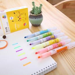 6 pçs / lote 1 caneta macia série Pikachu 6 cores highlighter para crianças artigos de papelaria copic marcadores art supplies escola supplier art markers copic de Fornecedores de marcadores de arte copic