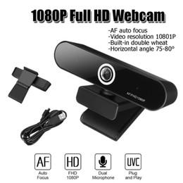 2019 usb câmera de rede hd LEORY Webcam Video Chat gravação USB Camera HD Smart Camera 1080p Web para Computer Network Video Conferencing desconto usb câmera de rede