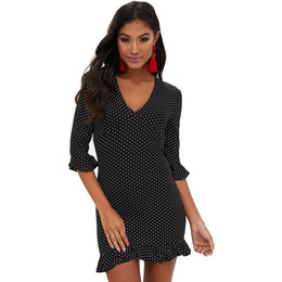 Wholesale Plus Size Dots Women Dress Xxl Group Buy Cheap
