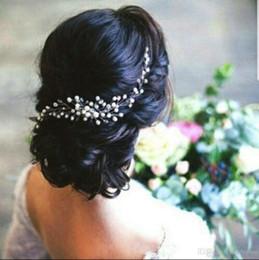Handgemachte tiaras online-European Style Brauthandgemachte Hairpin Kristallkopfschmuck Gold- und Silberhochzeitskleid Zubehör Brauthandgemachten Schmuck