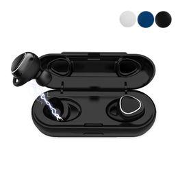 Micro-casque universel en Ligne-Xi7 TWS Écouteur Mini Bluetooth sans fil avec des écouteurs magnétiques avec micro casque sport mains libres stéréo sans fil casque vs Samsung Gear IconX