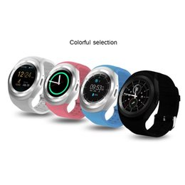 used cameras for sale Coupons - On sale Y1 circle screen Smart Watch Fitness Tracker support Nano SIM Card TF Card for Apple iPhone HTC Xiaomi Android Phones