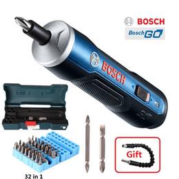 tapón de plástico impermeable Rebajas BOSCH GO Mini destornillador eléctrico 3.6 V Batería de iones de litio Taladro eléctrico inalámbrico recargable con kits de brocas