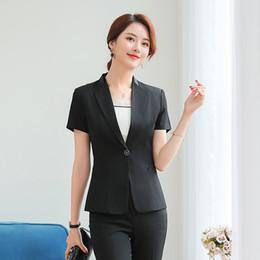 In Formale Rock Anzüge 2 Stück Mit Tops Und Rock Für Business Frauen Professionelle Blazer Uniform Styles Outfits Elegante Rosa üBerlegene QualitäT