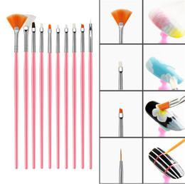 weißer pulvermantel Rabatt 15 stücke Acryl Nail art Pinsel UV Gelpoliermittel Malerei Zeichnung Pinsel Stift Nagel Punktierung Kit Sauber Pinsel Maniküre Werkzeuge Set.