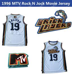 camisetas de rock Desconto Homens 19 Aaliyah pedreiros 1996 MTV Rock N Jock filme Jersey 100% costurado basquete Jerseys S-XXL
