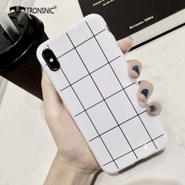 Tampa do iphone xadrez preto on-line-Plaid Telefone brilhante para o iPhone 11 Caixa branca de silicone preta Pro XS MAX XR macia de luxo para iPhone 6S 7 8 Plus brilhante Capa Hot