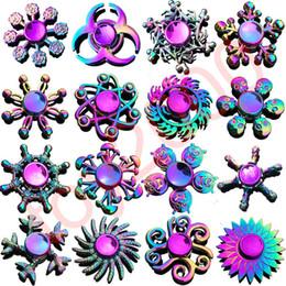 Tv metal online-Rainbow Metal fidget spinner estrella flor cráneo ala del dragón Mano Spinner para autismo TDAH Niños adultos antistres Juguete EDC Fidget juguetes para niños