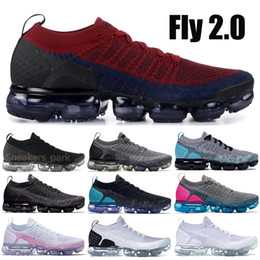 white knit fabric Promo Codes - 2019 Knit 2.0 1.0 Fly Running Shoes Mens Womens White Vast Grey Dusty Cactus Gold BHM Designer Shoes Sneakers Trainers 36-45