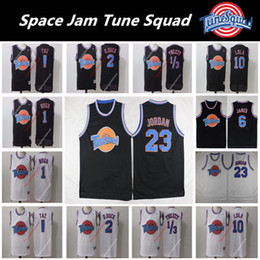 db59bf7516ec Men s 23 Michael LeBron 6 James Space Jam Tune Squadra Looney Daffy Duck  Bill Murray Lola Bugs Bunny TAZ Tweety Curry Movie Basketball Jersey a  prezzi ...